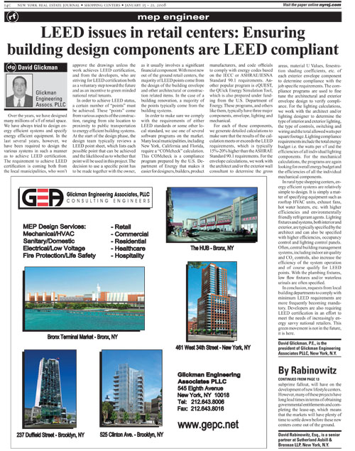LEED issues in retail centers