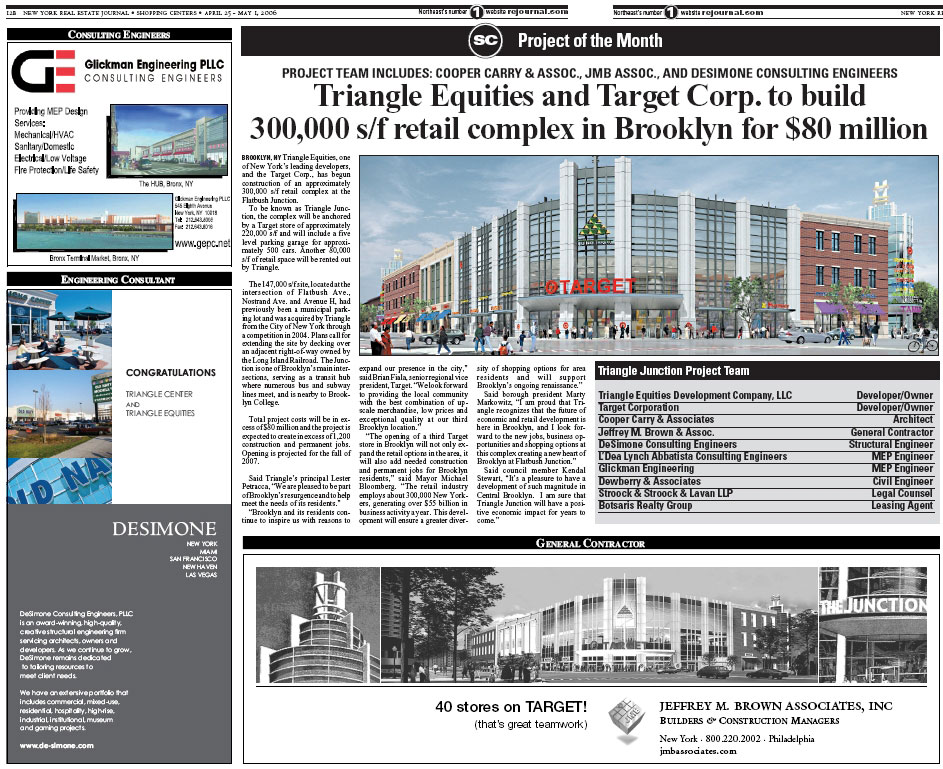 Triangle Equities and Target Corp. to Build 300,000 s/f retail complex
