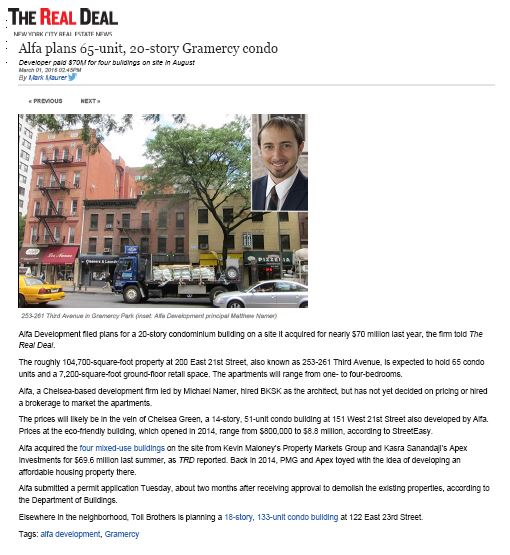 GEA Project in the News: 200 East 21st Street